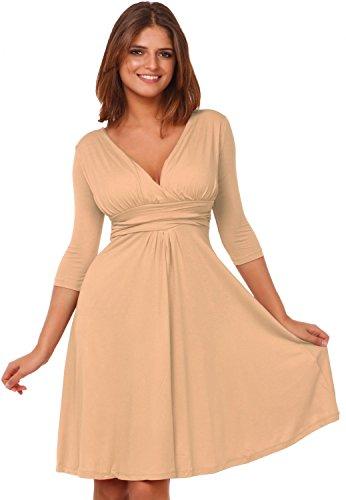 Jersey Pleated V-Neck Dress - 7