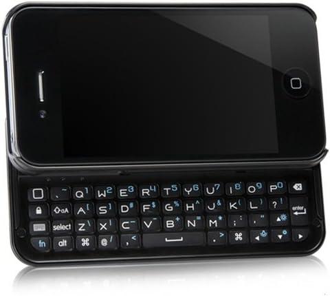 BoxWave clavier Buddy iPhone 4S/4 Coque – Etui avec clavier Bluetooth de commandes d'Apple pour Apple iPhone 4S (Noir de jais)
