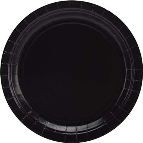 Big Party Pack Paper Dinner Plates 9-Inch, 50/Pkg, Black - Party Supplies