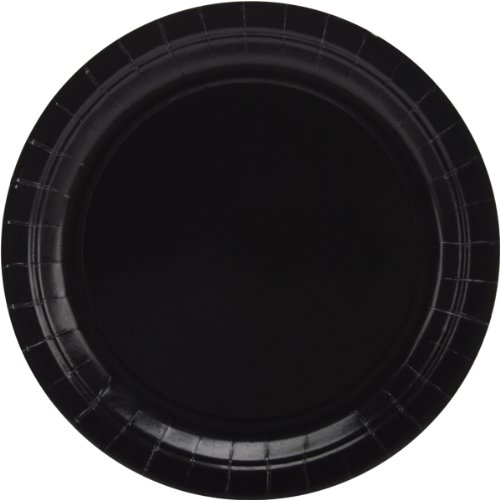 Big Party Pack Paper Dinner Plates 9-Inch, 50/Pkg, Black (Party Supplies)