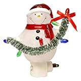 Cheap Roman Snowman with Garland Night Light