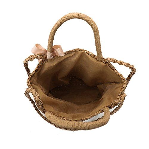 Joker Handbag Travel Casual Beach Bag Shoulder Straw Gwqgz AxYR0qOw