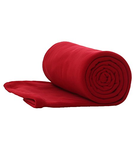 E-Onfoot Warm Cozy Microfiber Fleece Zippered Sleeping Bag Liners (Red) ()