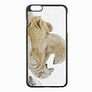 iPhone 6 Plus Black Hardshell Case 5.5inch - polar bears bears snow winter games Desin Images Protector Back Cover