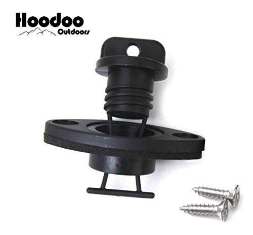 Hoodoo Outdoors Drain Plug and Receiver Kit - Kayak - Boat - Outdoors - Canoe - Camping - Hiking
