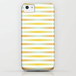 Society6 - Stripes In Blue & Orange iPhone & iPod Case by HK Chik BY supermalls