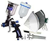 Touch Up Composite HVLP Air Spray Gun Auto Car Detail Paint Sprayer Spot Repair, with Filtering and Protective Kits