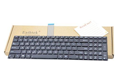 Eathtek Replacement Keyboard NO Frame Compatible for Asus X501 X501A X501U X501EI X501XE X501XI R510LA R510LB R510LC R510LD R510LN Series Black US Layout