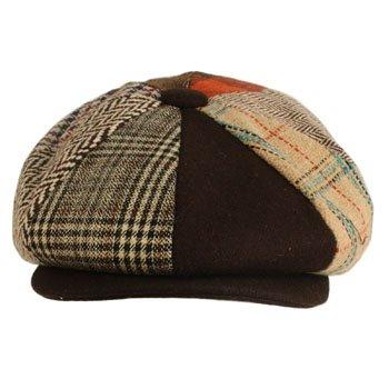 Men s Wool Winter Herringbone Plaids Newsboy Cabbie Gatsby Cap Hat Brown M  56cm 6018594300a0