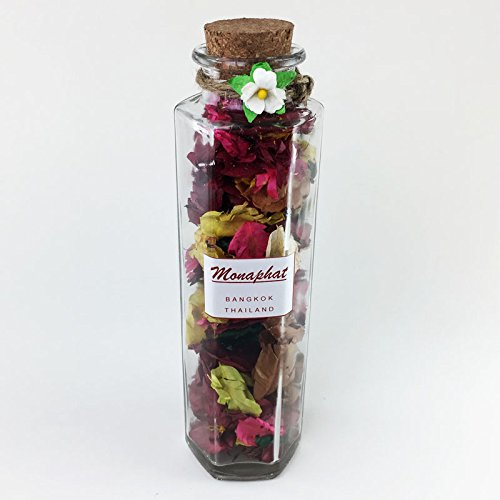 MONAPHAT The Beautiful Glass Bottle Design Decorative with SAKURA Fragrance Potpourri #PR-0512 by MONAPHAT