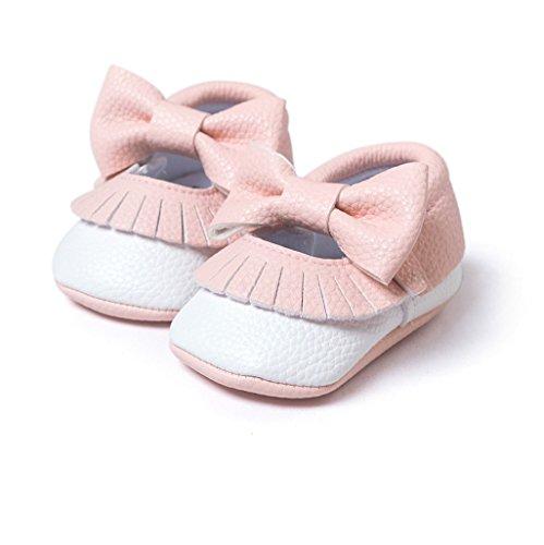 Niño Meses Bowknot Antideslizante Suave Cuero Bebé Para Único Ff De Zapatos Niña 0 Zapatillas 18 auxma RxfInWpz