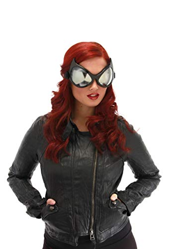 elope Cat Eye Costume Goggles Black, Silver Lenses ()