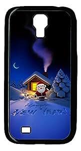 Galaxy S4 Case, Unique Design Protective Hard PC Black Happy New Year Case Cover for Samsung Galaxy S4