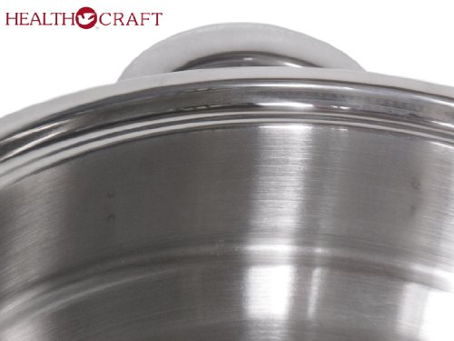 Health Craft Stainless Steel 6.5 Qt Deep Stockpot W/6 Qt Spaghetti Cooker Insert by Health Craft True Induction (Image #4)