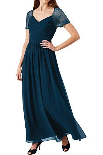 Partykleider Ivydressing 2017 Damen Inkblau Neu Grape Abendkleider Festkleid Spitze Lang Kurzarm Chiffon zSqTqnwBW