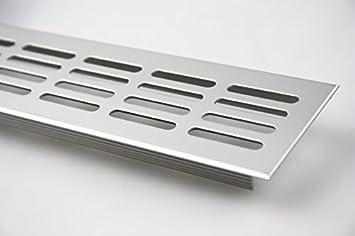 L/üftungsgitter Aluminium Stegblech L/üftung 150 mm x 1500 mm in Verschiedenen Farben Braun eloxiert