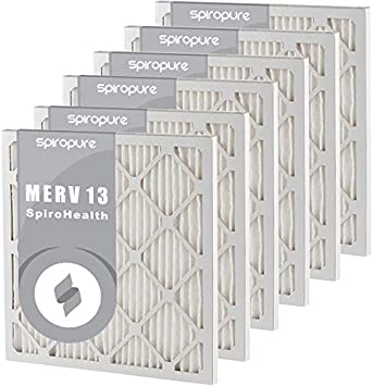 Made in USA SpiroPure 27.75X27.75X1 MERV 8 Pleated Air Filters 6 Pack