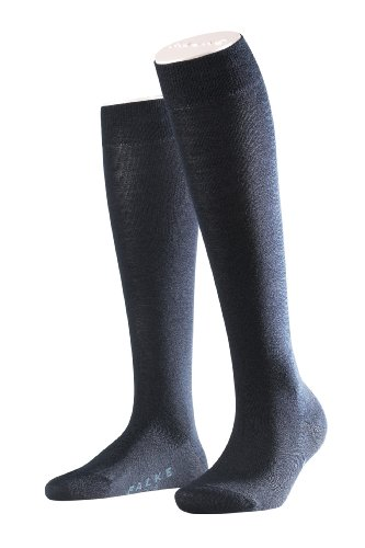 Falke Women's Soft Merino Wool-Cotton Knee High Socks, Dark Navy, 39-40 -