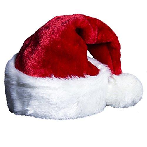 Plush Santa Clause Hat Vintage Christmas Decorations Faminly Santa Holiday Hats
