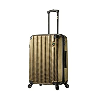 "Mia Toro ITALY Catena Largo Hardside 26"" Spinner, Gold, 26 Inches"