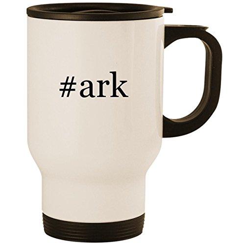 - #ark - Stainless Steel 14oz Road Ready Travel Mug, White