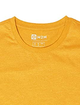 H2h Mens Basic Fashion Crew-neck T-sihrt Mustard Us Lasia Xl (Cmtts0198) 5