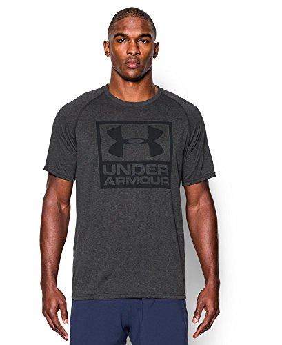 Under Armour Men's UA Tech Boxed Logo T-Shirt Small Carbon Heather