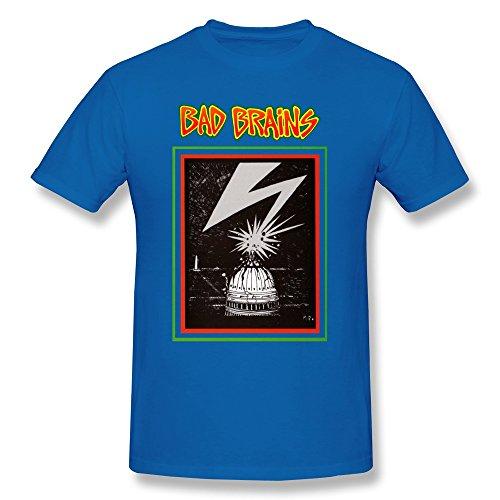 Seico Men's Bad Brains Reggae Punk Band T Shirts RoyalBlue Size XL
