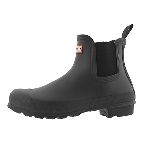Hunter Boots Women's Original Chelsea Rain Boot Black 8 M US