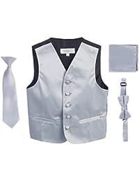 Boys 4pc Satin Formal Vest Set