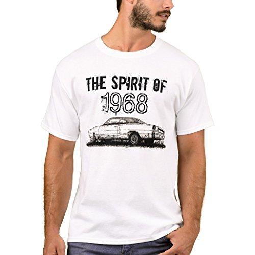 Zazzle Men's Basic T-Shirt, Mopar - 1968 Dodge Coronet Super Bee T-Shirt, White (Mopar Super Bee)