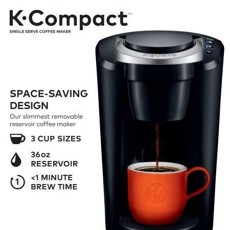 Keurig K-Compact Single-Serve K-Cup Pod Coffee Maker, Black