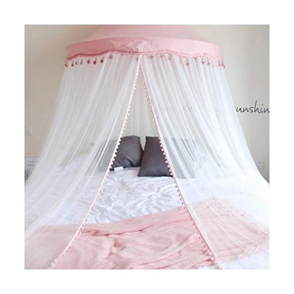 Bulawlly Lettino Canopy Rotonda Dome, Principessa Letto a baldacchino zanzariera da Letto, Tenda del Gioco Decorazione… 1 spesavip