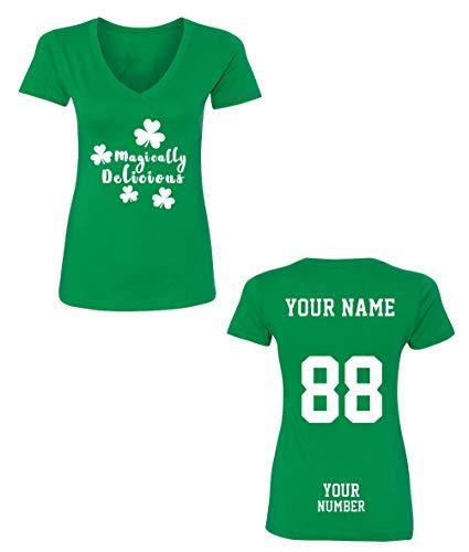 Delicious Custom Jerseys St Patrick's Day V Neck T Shirts - Saint Pattys Outfits