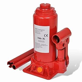 vidaXL Gato Hidráulico de Acero Rojo 5 Toneladas Elevador de Coche Vehículos: Amazon.es: Amazon.es