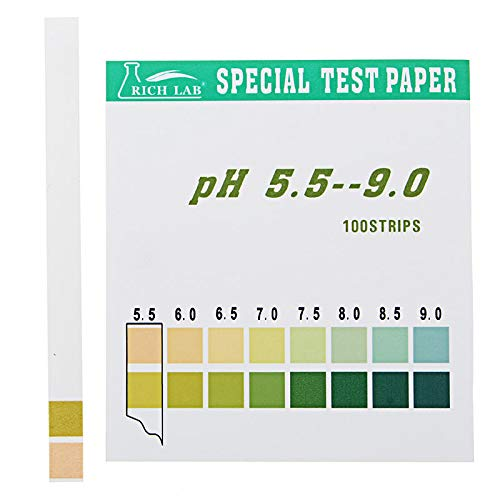 OKIl Precision PH Test Strips Short Range 5.5-9.0 Indicator Paper Tester 100 Strips Boxed w/Color Chart (Boxed Tester)