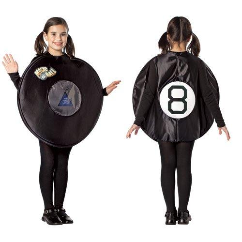 8 Ball Costumes (Rasta 4889-710 Magic 8 Ball Costume for 7-10)