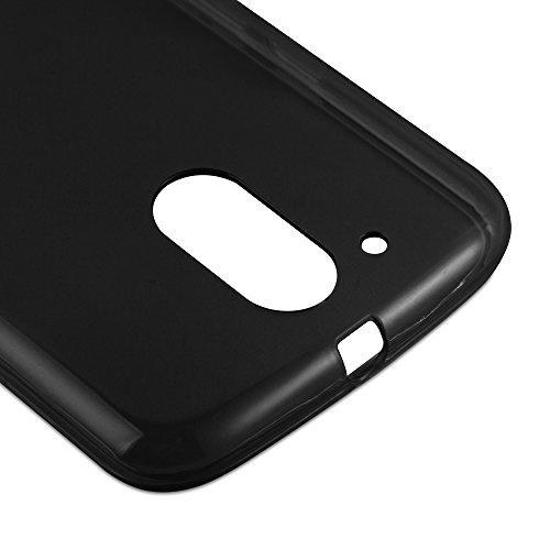 Cadorabo - Motorola MOTO G3 (3. Generación) Cubierta protectora de silicona TPU en diseño AIR - Case Cover Funda Carcasa Protección en TRANSPARENTE-AZÚL NEGRO
