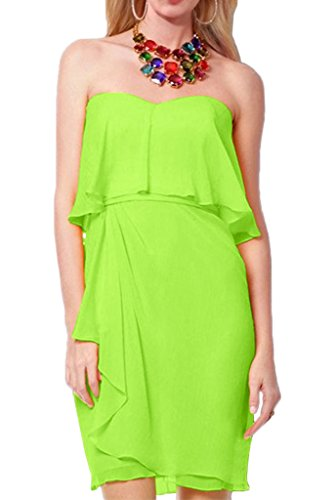 Avril Dress A Strapless Bridesmaid line Homecoming Green Length Layered Mini Dress rrqxBw