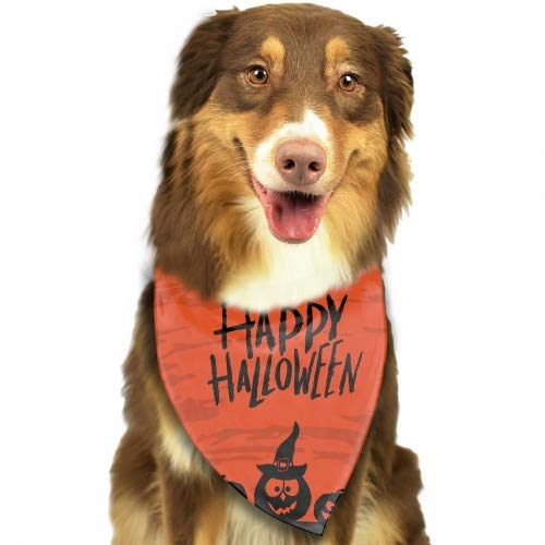 Happy Halloween Pack Dog Bandana Washable Triangle Cat Scarf Hawaiian -