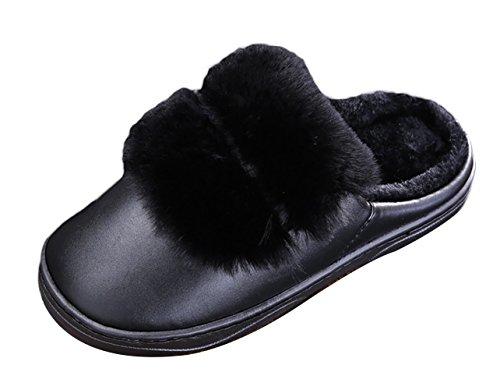 Pantofole D'inverno Casa Scuro 43 Di Interni Felpa Scarpe 42 Uomini Da Pantofole Ghiaccio Calde Gli Slittano Nero grigio v4HpUpq