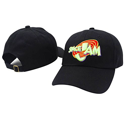 IreDi 1996 Movie Space Jam Cap Fashion Curved Chapeau 3D Dad Hat Black