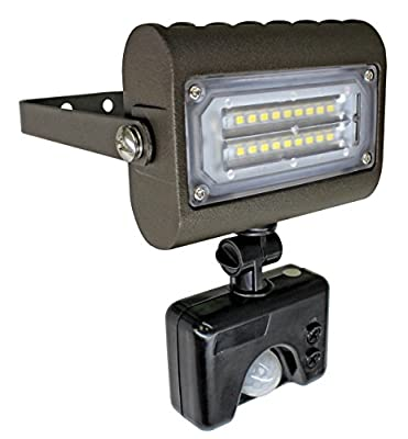 Westgate LED Flood Lights With PIR Motion Sensor, 120V - Dark Bronze - UL Listed - Best Flood Light For Outdoors