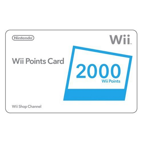 Nintendo Wii 2000 Points Card - Nintendo Wii 2000 Points Card