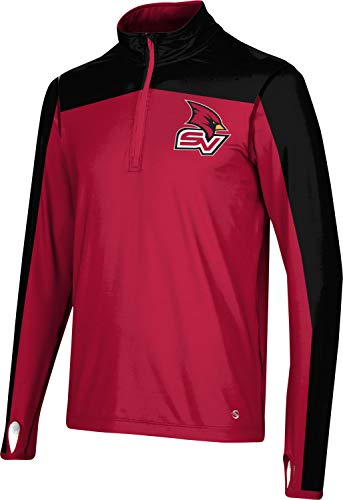 ProSphere Saginaw Valley State University Men's Quarter Zip Long Sleeve - Sharp 100C6 Red and ()