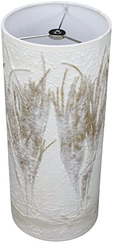 FenchelShades.com Lampshade 6 Top Diameter x 6 Bottom Diameter x 14 Height with Washer Spider Attachment Paper Seagrass