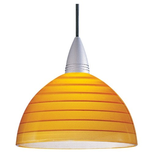 Sea Gull Lighting 94245-652 Ambiance RX Glass Dome with Etched Glass Step Design Amber