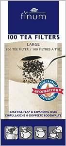 Finum 100 Tea Filters, Large, Brown