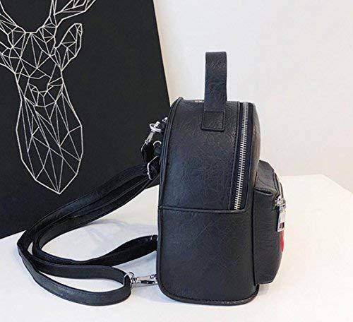 Tamaño Elegante Eeayyygch Minimalista color Bolso Cuadrada Mochila Plata Negro Pequeña xnUngR