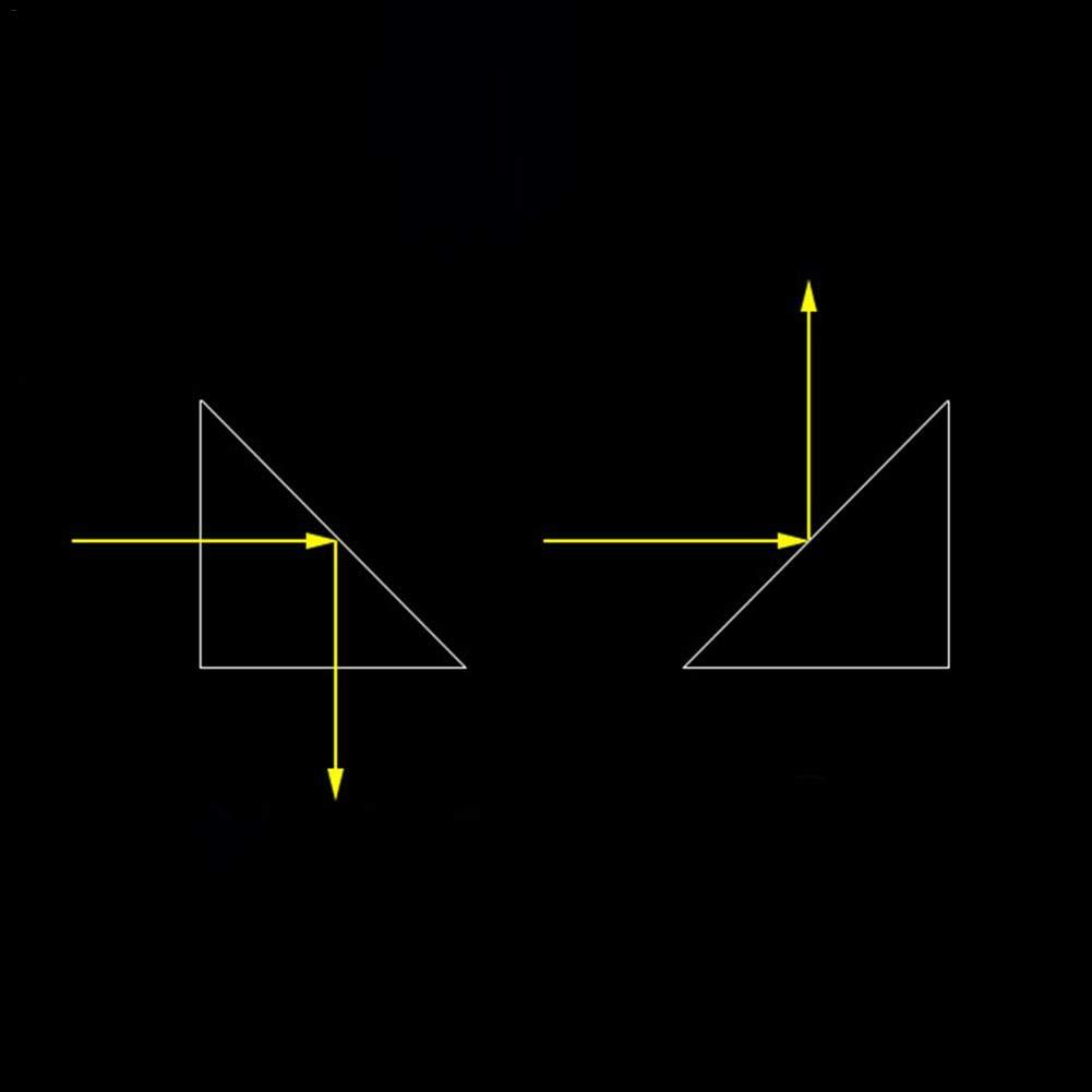 Rcraftn Vidrio /óptico Viga Triangular Divisi/ón de Prisma /Ángulo Recto Is/ósceles Prismas para la f/ísica Ense/ñanza Espectro de luz La luz del Sol refleja la f/ísica